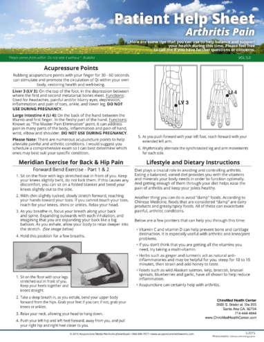 Arthritis Pain HelpSheet-1