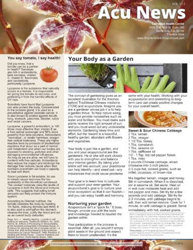 Body as a Garden NewsLetter-1