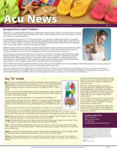 Tinnitus NewsLetter-1